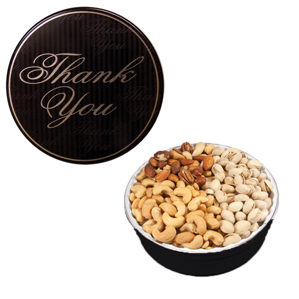 The Royal Tin with Mixed Nuts - Thank You Design