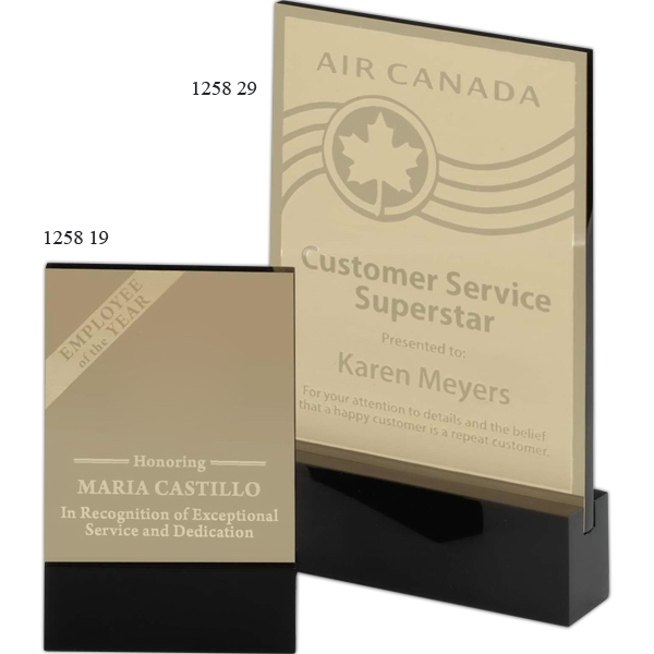 Promotional Declaration Brass Award with Black Acrylic Base
