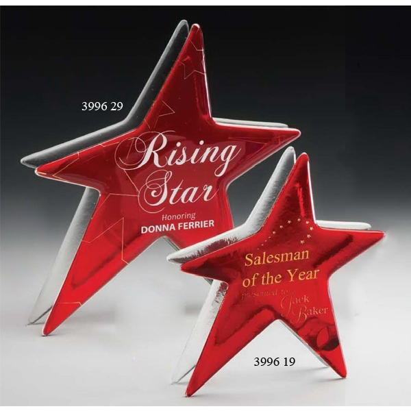 Promotional Ruby Star Art Glass Award