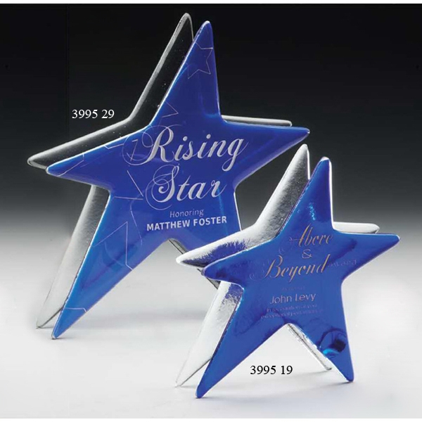 Imprinted Signature Series Sapphire Star Art Glass