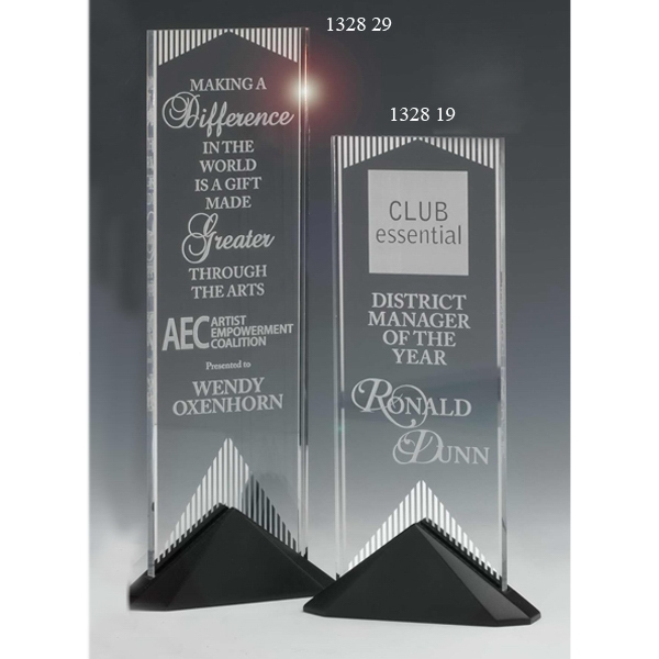Imprinted Reflections Mirror Acrylic Award with Stonecast (TM) Base