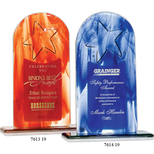 Customized Star Arch  Art Glass Award