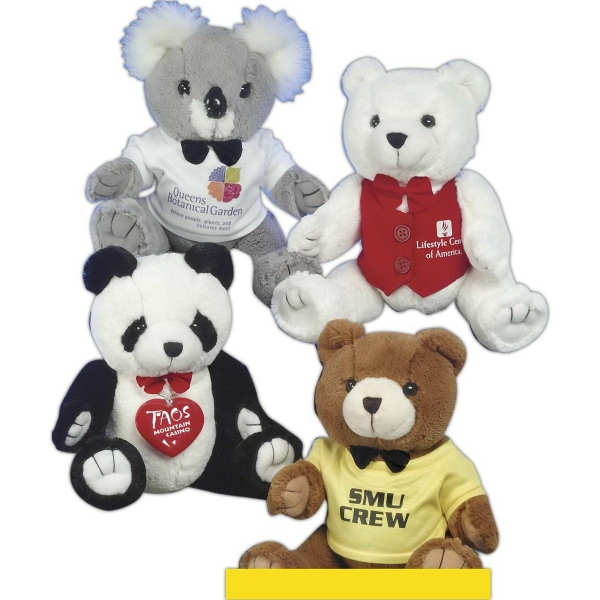 "Good-Buy Bears (TM) 10"" stuffed bear with bowtie"