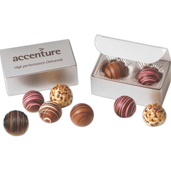 Printed Flavor Filled Truffles in Digital Imprinted Gift Box
