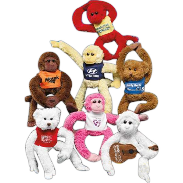 "Clingers (TM) 9"" stuffed monkey with velcro hands and feet"