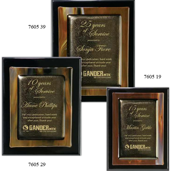 Imprinted Brown Metallic Fusion on Plaque