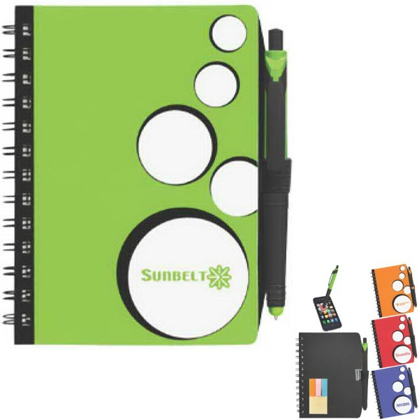 Spot Light Notebook With Sticky Note Combo