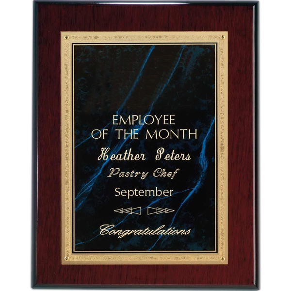 Custom Rosewood Piano Finish Wall Plaque- Lapis