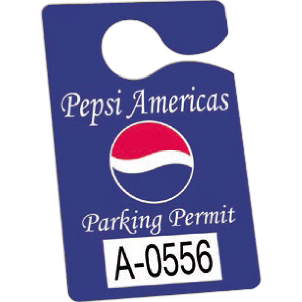 Customized Durable Plastic Hanging Parking Permit