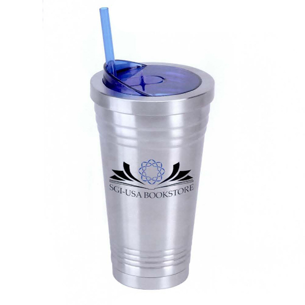 Personalized 16 oz. Stainless Double Wall Cup with See Thru Lid