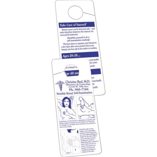 Printed Breast Self-Exam Plastic Hanger