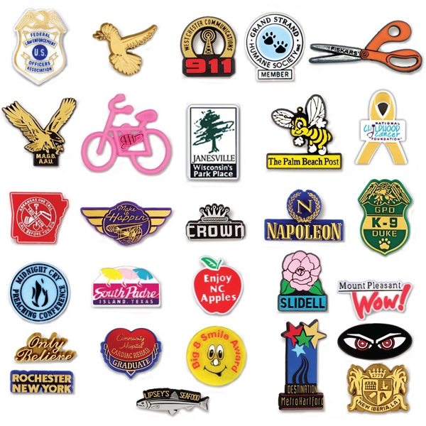 Custom Custom Molded Plastic Lapel Pins