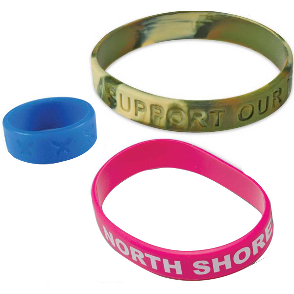 Printed 3 Hole Silicone Rubber Bracelet