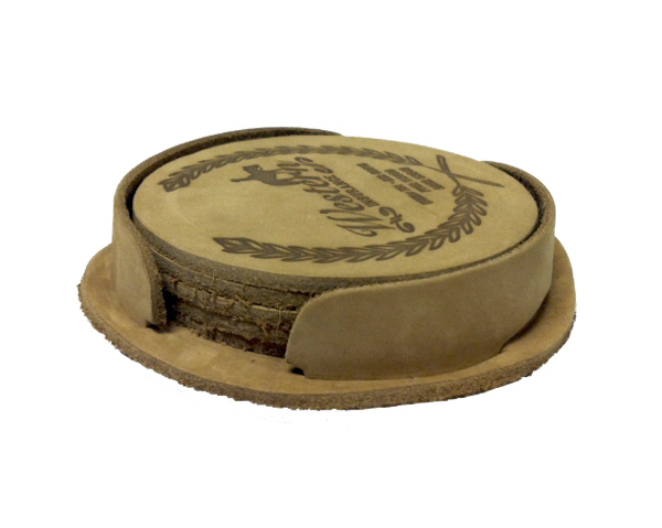 Leather Coaster, Set of 4