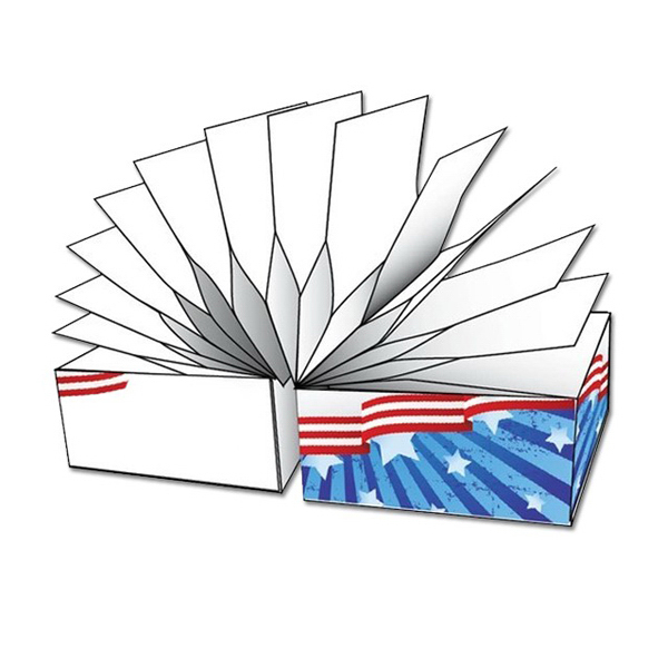"Custom Slinky (TM) Brand Adhesive Notes Cube -2.75"" x 2.75"" x 2.75"""