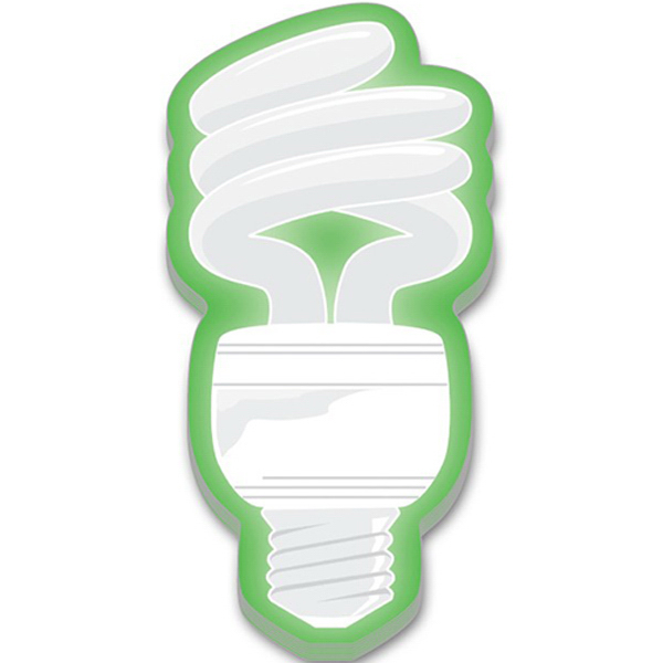 Custom Stik-ON (R) Adhesive Notes - Fluorescent Light Bulb