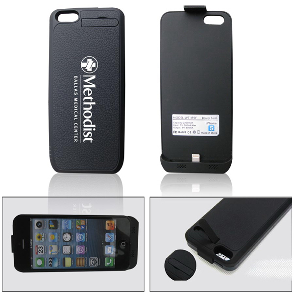 Personalized External Battery charger with Protective Case for iPhone 5