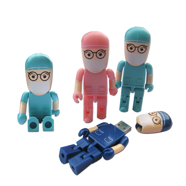 Imprinted Doctor Shape Memory Stick Flash Drive