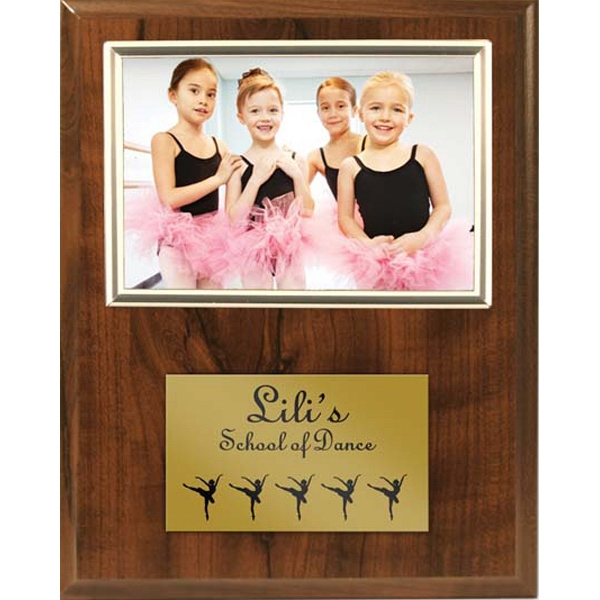 Personalized Cherry Plaque with Gold Photo Frame & Plate