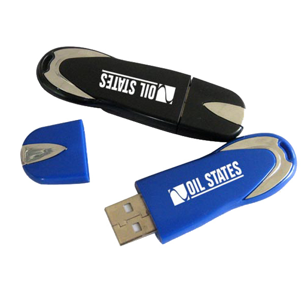 Promotional Sleek Drive USB with Built in Loop