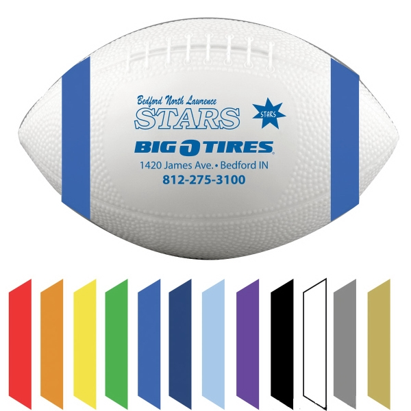 Vinyl Football with End Stripes