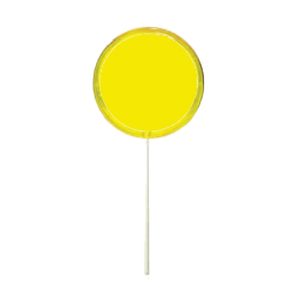 Imprinted Yellow Circle Lollipop Usimprints