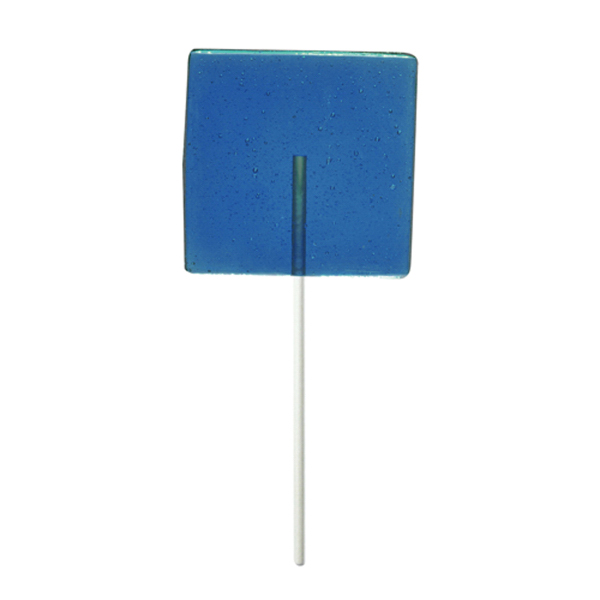 Imprinted Blue Square Fun Size Price Buster Lollipop