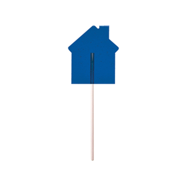 Customized Blue House Fun Size Price Buster Lollipop