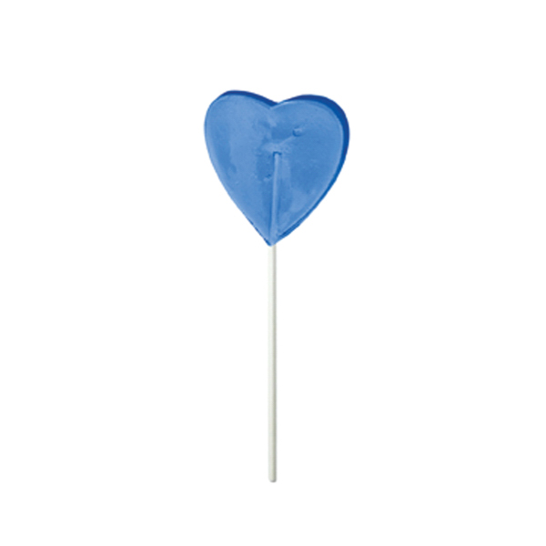 Custom Blue Heart Fun Size Price Buster Lollipop