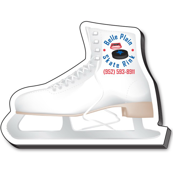 "Customized Stik-On (R) Shape Adhesive Notes - Ice Skate (4"" x 3"")"