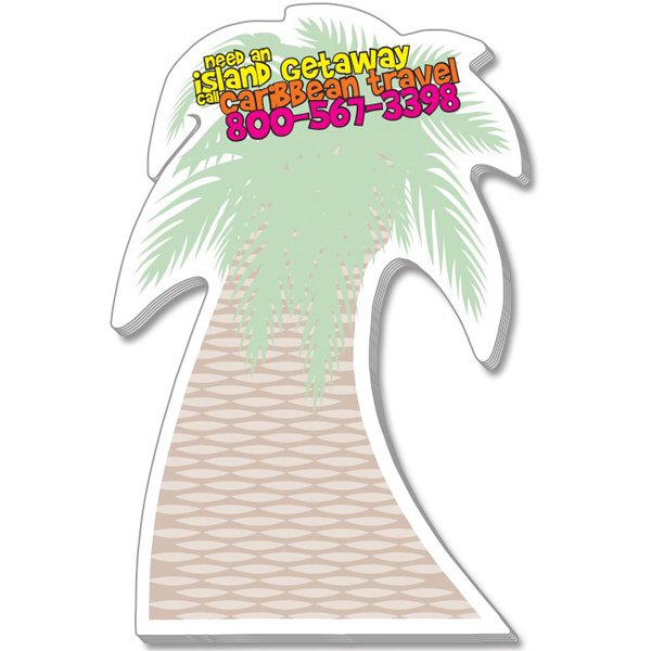 "Promotional Stik-ON(R) Shape Adhesive Notes - Palm Tree (3.125"" x 5.25"")"