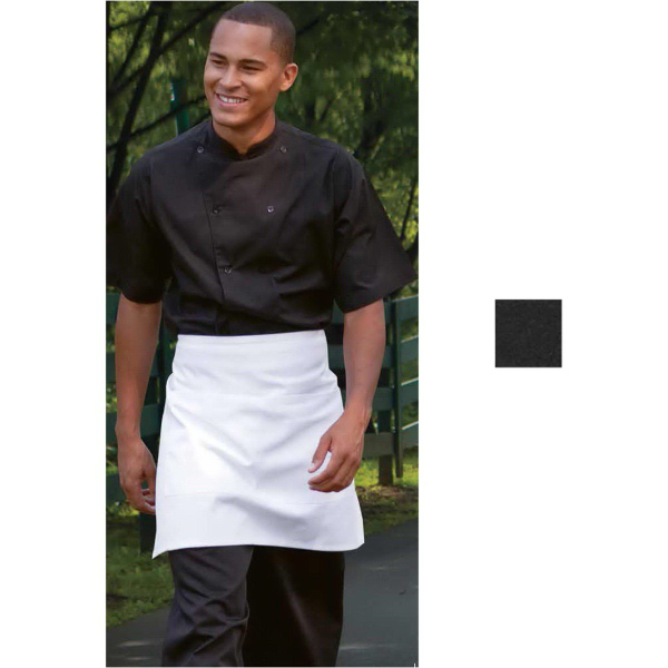 Customized Manhattan Short Sleeve Black Kitchen Shirt