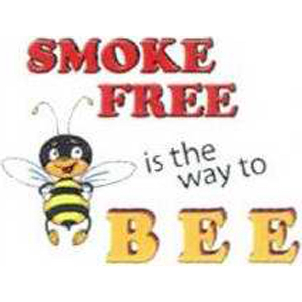 "Temporary ""SMOKE FREE is the way to BEE"" Tattoos"