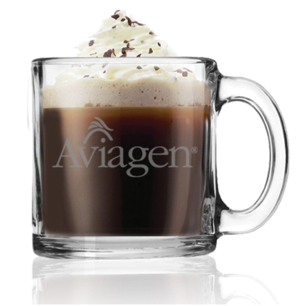 13 oz. Clear Glass Coffee Mug - Mega Special
