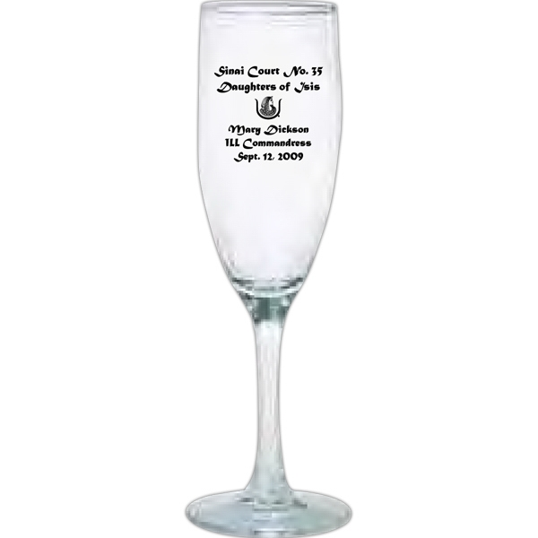 Printed Fluted champagne glass