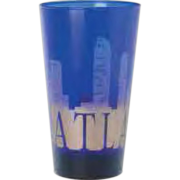 Printed Blue glass pint