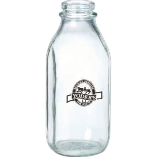 Personalized Glass Milk Bottle