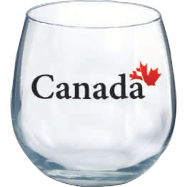 Customized Stemless red wine glass