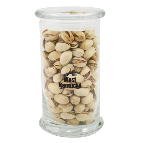 8.5 oz. Pistachios in Glass Status Jar