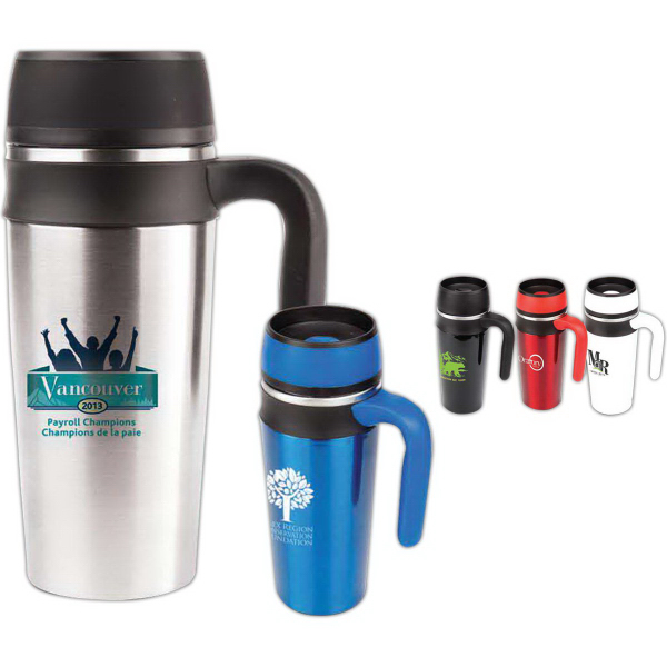 The Flare 16 Oz Double Walled Stainless Steel Travel Mug
