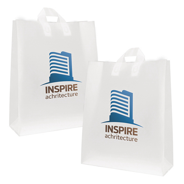 Personalized Soft Loop Frosted Shoppers