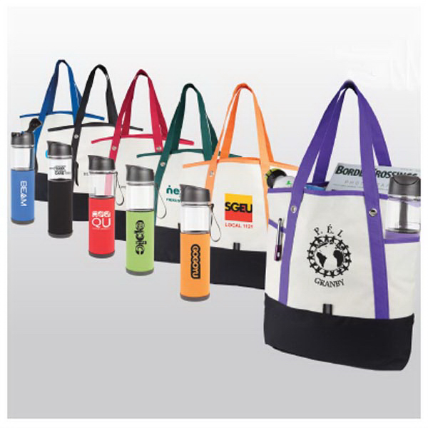 The Lansbury Tote Bag With Tritan (TM) Water Bottle Gift Set