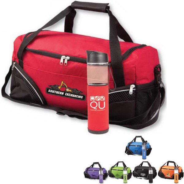 The Highland Duffle Bag &Tritan (TM) Water Bottle Gift Set
