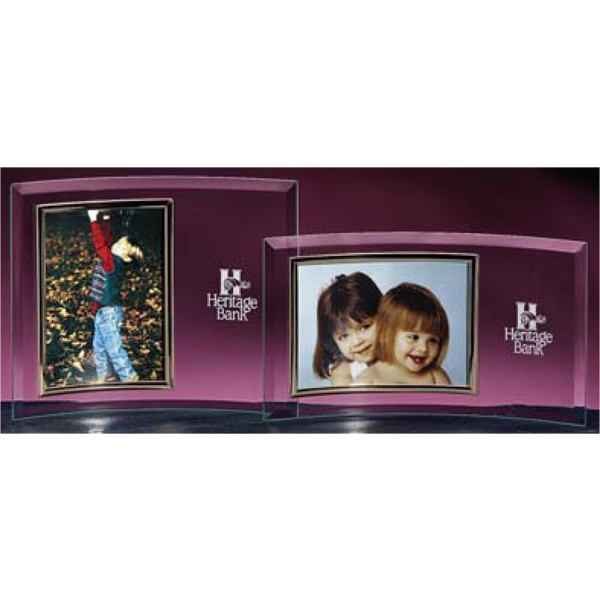 "Printed 4"" x 6"" Picture Frame with Silver Frame"