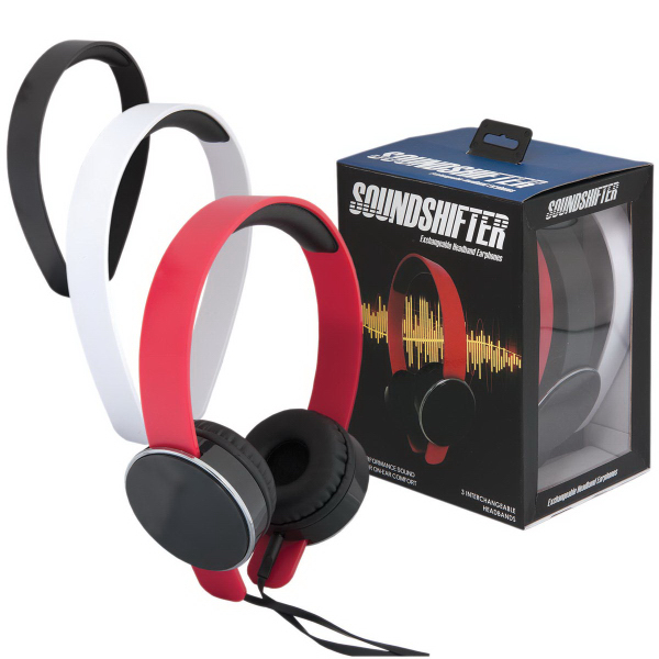 Soundshifter Headphones with Interchangeable Headbands