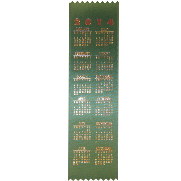 Printed Calendar Bookmark