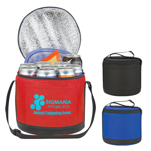 Cans-To-Go Non Woven Round Kooler Bag