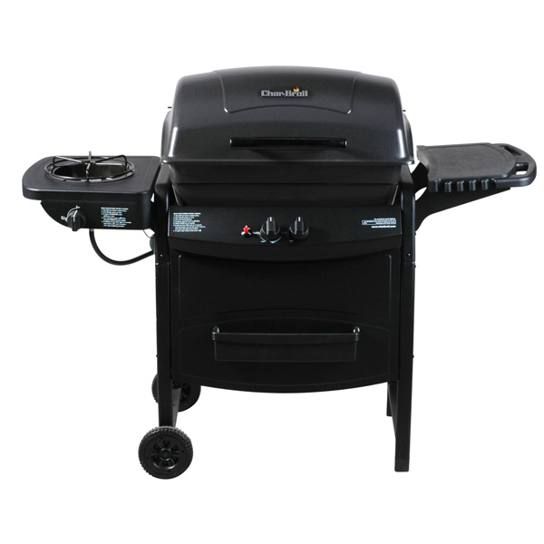 Two-Burner Gas Grill with Sideburner