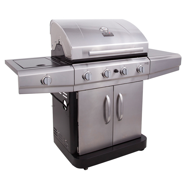 Four-Burner Gas Grill with Sideburner
