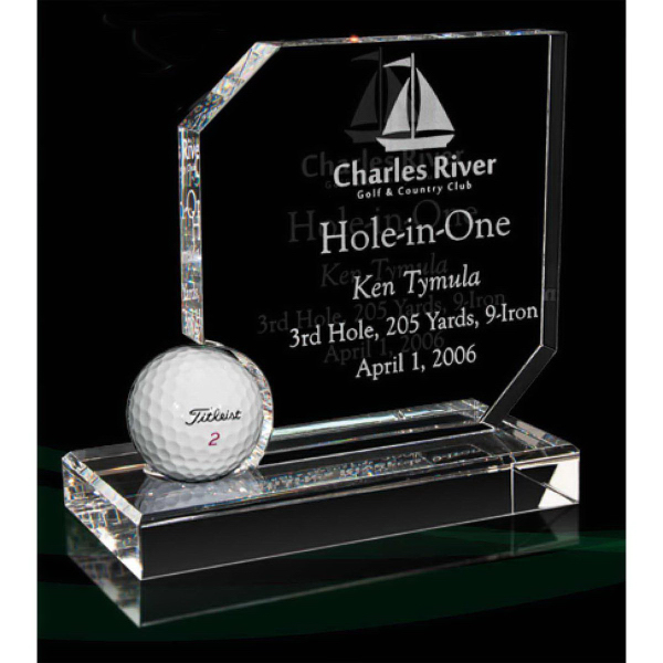 Optical Crystal Hole-In-One Award